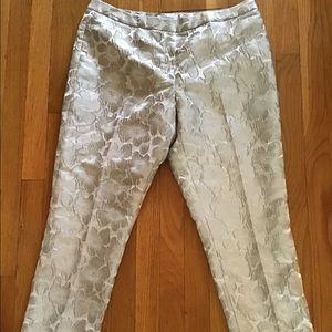 Calvin Klein gold metallic party pants size 10